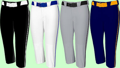 Russell Low Rise Knicker Length Fastpitch Softball Pants W Custom Piping 7S4DBXK