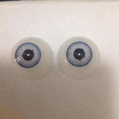 """Pabol  24MM Larger Pupil """"Comet Blue"""" Doll Eyes 1/2 round Acrylic FAST SHIPPING"""