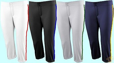 Russell Low Rise Knicker Fastpitch Softball Pants W Custom Piping No Belt Loops