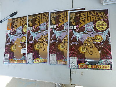 THE SILVER SURFER # 50  Signed by RON LIM    four copies see description