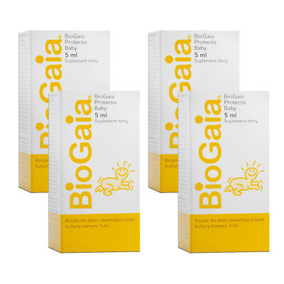 4x BioGaia ProTectic Probiotic Drops for Baby Colic 5ml (4 Pack - 20ml)