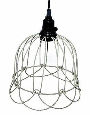 Wire Bell Pendant Lamp in Barn Roof, New, Free Shipping