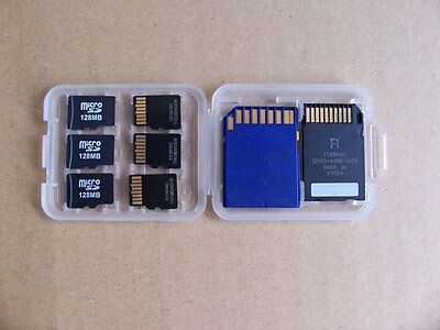8 Slots Micro SD TF SDHC MS Memory Card Storage Holder Carrying Plastic Case Box