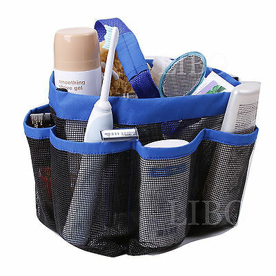 Portable Mesh Shower Caddy Organizer Storage Basket Travel Tote Bath Gym Bag