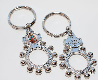 Keyring Chain Decade Ring Rosary key-chain Our lady of Guadalupe Virgin Mary