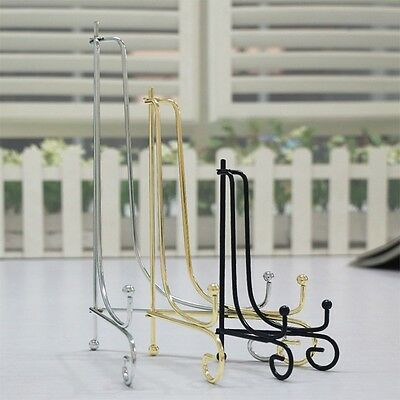 "6""-12"" Iron Easel Classic Display Stand Bowl Plate Picture Frame Book Artwork"