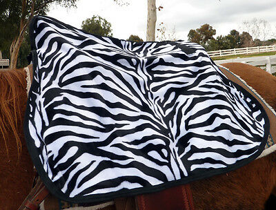 QUALITY WESTERN SADDLE COVER -- ZEBRA  black and white tiger animal print