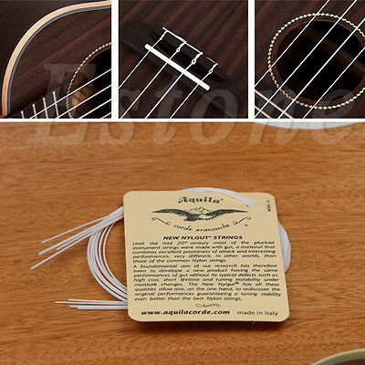1/2/5/8 Set of 4 Strings White Nylon Replacement Part for Ukulele Guitar NEW