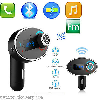 Wireless Bluetooth Speakerphone Handsfree Car kit FM Transimitters MP3 Charger