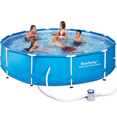 Schwimmbecken + Poolpumpe Swimming Schwimmbad Pools Framepool Stahlrahmen HG