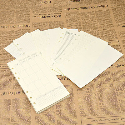 50pcs A6 Loose Leaf Paper Binder Replacement for Notebook Notepad Diary Book