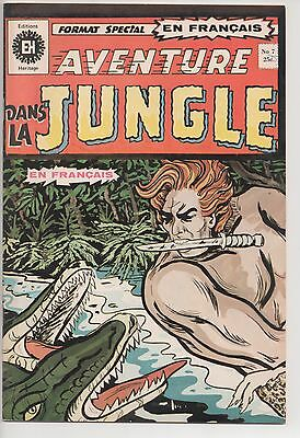 AVENTURE DANS LA JUNGLE #7 french comic français HERITAGE [Action-Black Panther]