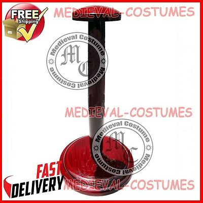 Wooden Helmet Stand Display Stand for Medieval Helmets Foldable Red Stand Z10