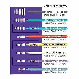 Piksters Interdental Brush - Size 4 Red 0.65mm - 40 Brushes Per Pack