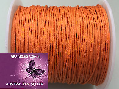 80 Metre Orange Waxed Cotton Cord 1Mm Thick Uncut And On Roll!! Aus Sellerd