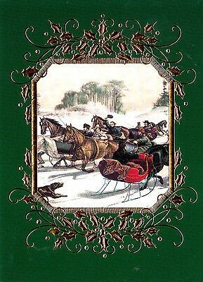 Currier & Ives Boxed Christmas Cards 16 Count Made In Usa Model Cd6100849