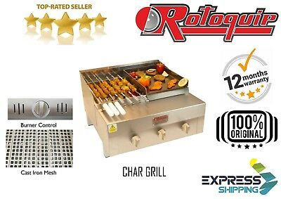 Commercial Flame Grill Charcoal Grill With Gas Griddle Hot Plate Char Grill Bbq