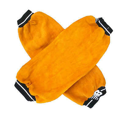 1 Pairs Split Leather Welding Sleeves Protective safety Splatter Heat Arm Sleeve