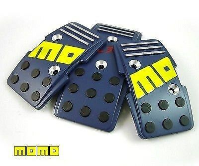 MOMO R3000 Blue Racing Gas Pedal 3 PC for Manual Transmission Cars
