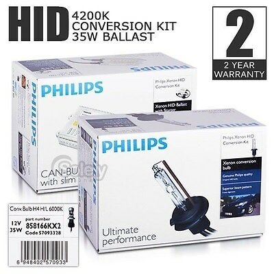 Genuine PHILIPS H7 4200K Xenon 35W HID CANBUS Conversion Kit