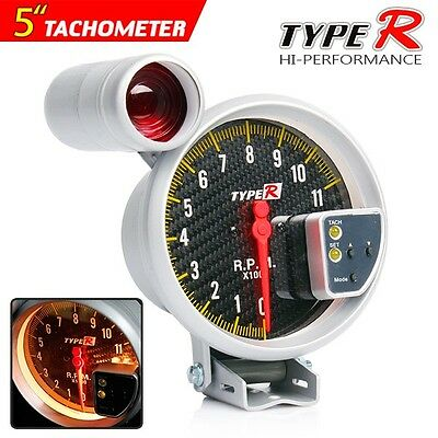 "New 5"" Carbon Fiber Dial Monster Tachometer Warning Shift Light"
