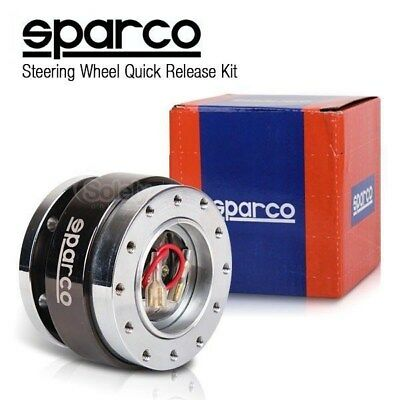 New SPARCO 2 Tone Silver/Bronze Steering Wheel Quick Release Snap Off Boss Kit