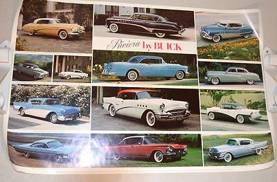 "Lot 5 Vintage 25"" x 38"" Buick Posters, Antique to Muscle Car"