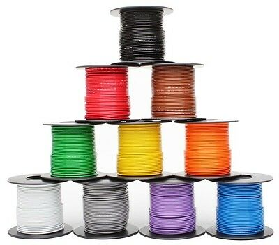 10 colors 50ft each Mil-Spec high temp wire cable 22 Gauge Tefzel M22759/16-22