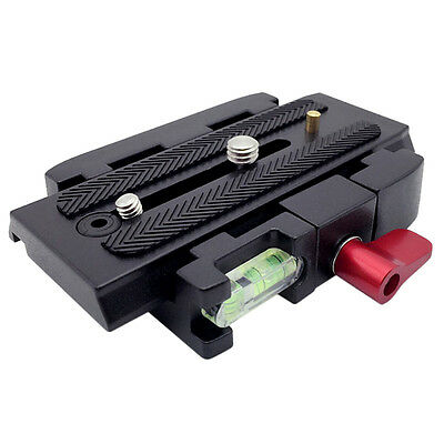 Quick Release System Adapter Slide Plate Universal DSLR Tripod Camera Ball Head