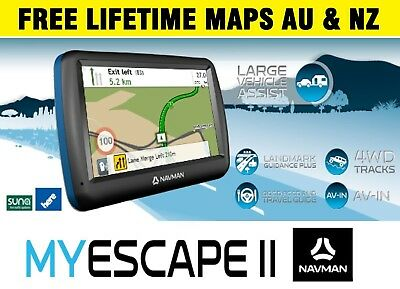 "Navman My Escape 2 TRUCK CAR GPS 5"" Bluetooth Navigator Lifetime Map Updates"
