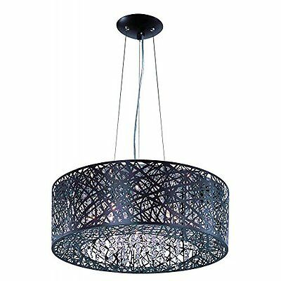 ET2 Lighting E21308-10BZ Pendant with Clear and White Glass Shades, Bronze Finis