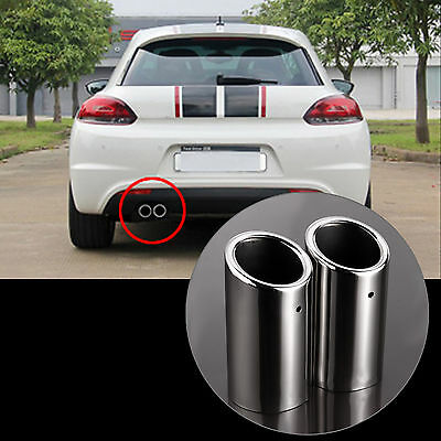 Stainless Steel Exhaust Tips Pipe Tail For VW Golf VI VII Estate Scirocco