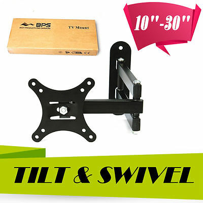 "Bracket Tilt Swivel TV Wall Mount 10-30""Inch Plasma LCD LED Monitor VESA 75 100"