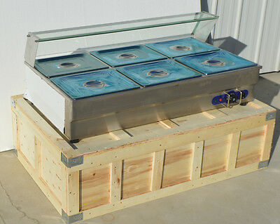 6-Pan Electric Countertop Bain-Marie Buffet Food Warmer Steam Table 1.8KW