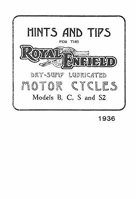 (0965) 1936 Royal Enfield B C S S2 instruction book