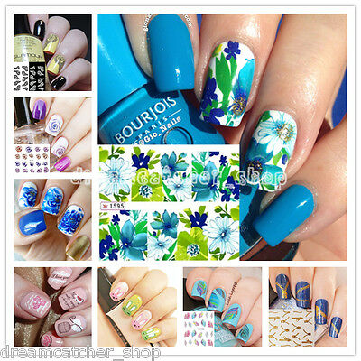 Nail Art Water Transfer Stickers Wraps Foils Decal Tips DIY Manicure Decoration