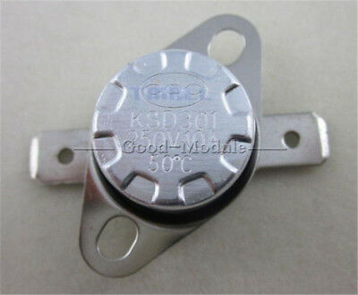 KSD301 113°F// 45°C Degree Celsius N.O Temperature Switch Thermostat 250V 10A
