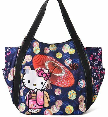 Hello Kitty limited version tote bag Mothers tote bag blue from Japan Sanrio F/S