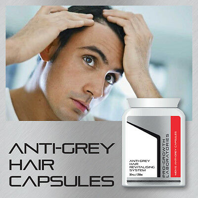Pro-Growth Mens Anti-Grey Pill Hair Revitalising System No Grey Hair Tablets