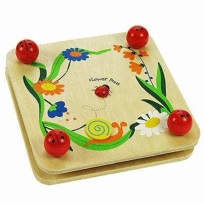 BJ003 Wooden Flower Press for Kids - Ladybird Design