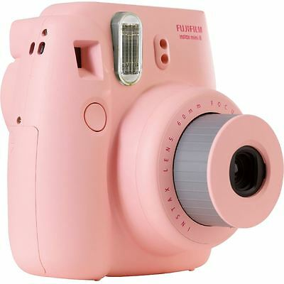 Fuji Instax Mini 8 Instant Photo Camera Pink Instant Pictures in seconds, New