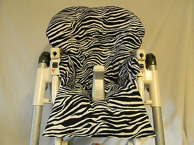 Handmad Prima Pappa Diner & more Highchair Cover In/Black And White Zebra