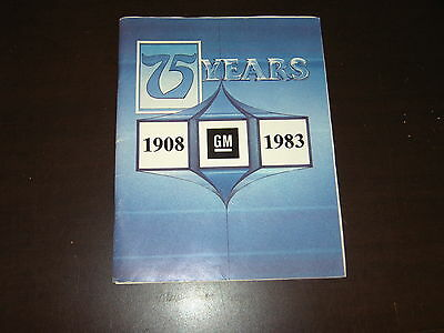 Vintage 1983 Generals Motors Gm 75 Years Car History William Durant Buick Chevy