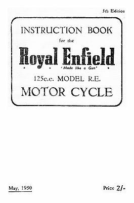 (0997) 1950 Royal Enfield R.E. Model instruction book