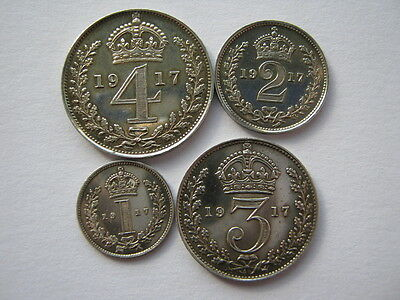 1917 Maundy set polished/cleaned