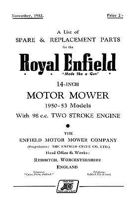 "Royal Enfield 1950-1953 Model 14"" Motor mower"