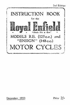 (1013) 1953-1954 Royal Enfield R.E.Model & Ensign instruction book