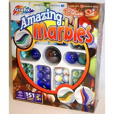 Grafix Amazing Marbles  151 Piece Deluxe Marble Set Great Gift Age 5 +