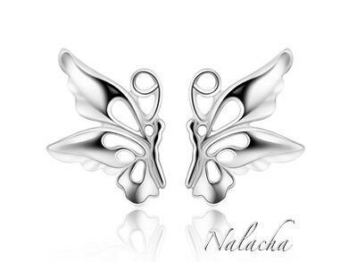 UK 925 Sterling Silver Butterfly Stud Earrings Jewellery Womens Ladies Gifts