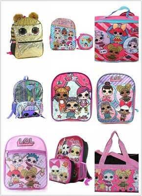 L.O.L. Surprise lol Girls School Book bag Backpack Lunch Box Different Size